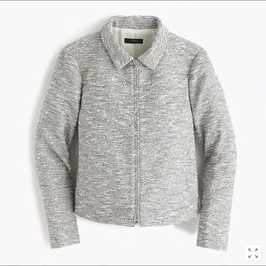 Jcrew zip jacket (black and white tweed) - size 2